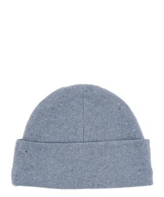 the cap, here with the brim folded up, to be worn as a beanie or like a sailors hat